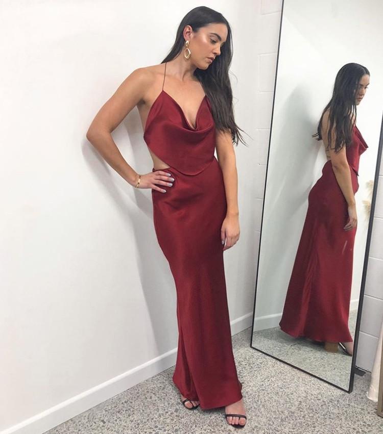 Virgo Rust Gown Set