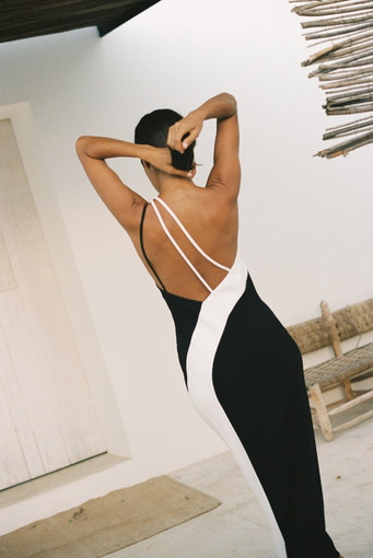 De La Vila | Evita Black White Gown