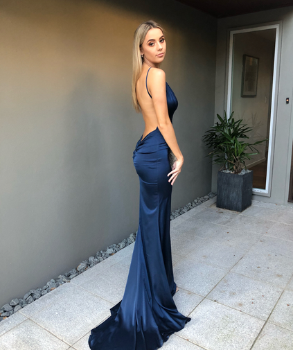 Unleashed Navy Gown