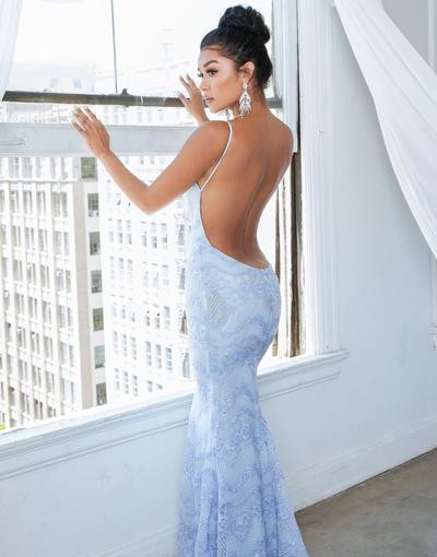 Florabelle Ice Blue Gown