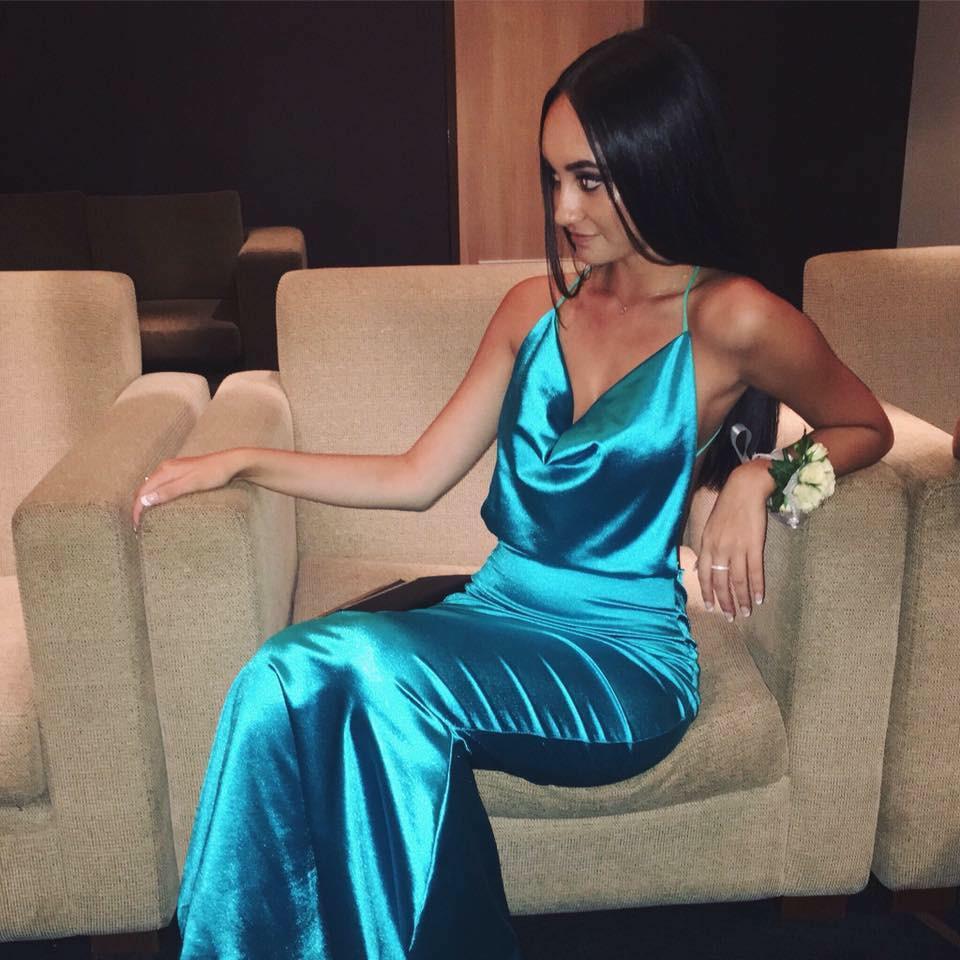 Dupey Aquamarine Gown