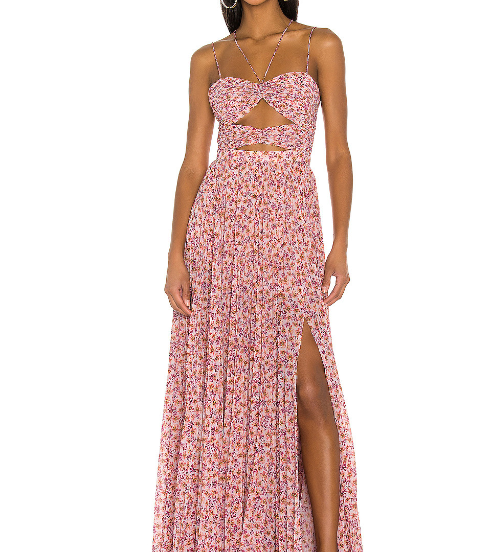Lana Orchid Dust Ditsy Rosa Gown