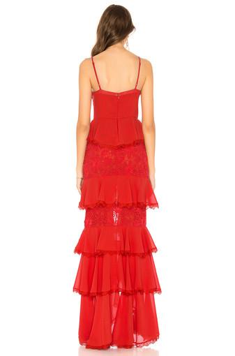 Majorelle   Zelda Fitz Red Gown