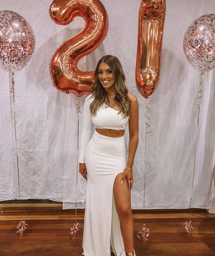 Camila White Gown