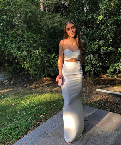Solce London | Goldie White Gown