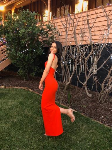 Solace London | Crockett Blood Orange Gown