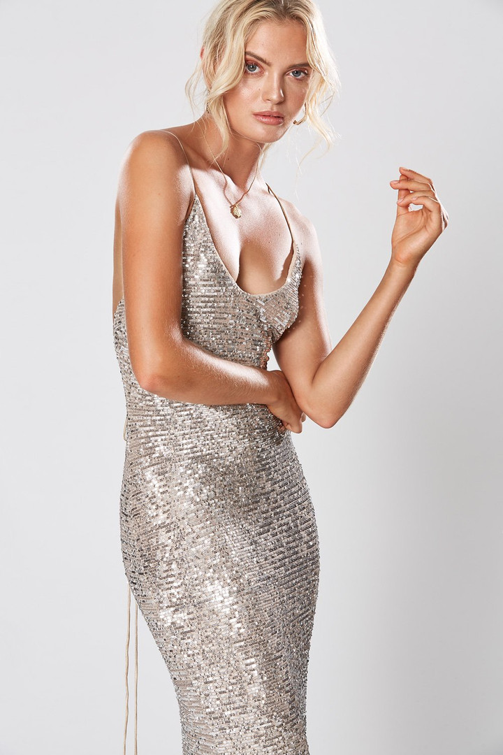 Broadway Silver Gown