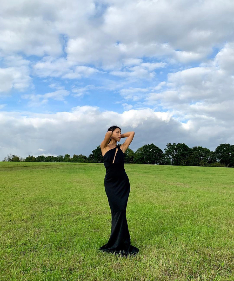 Edgy Black Gown