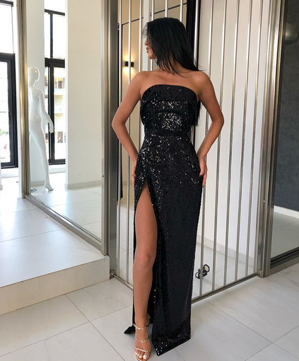 Thelma Black Gown