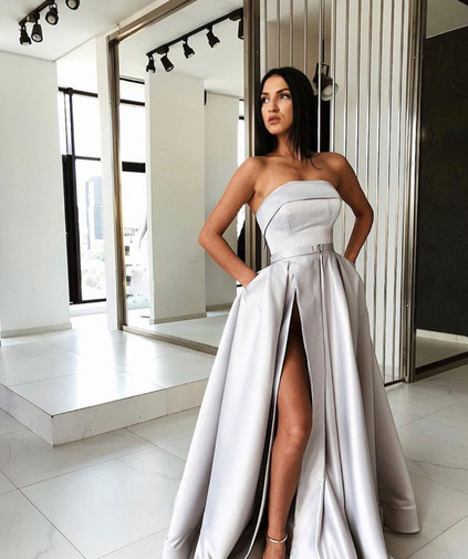 Maggie Dove Grey Gown