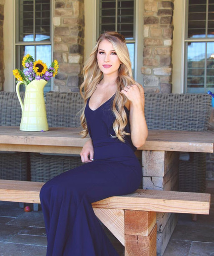 Barthelemy Navy Gown