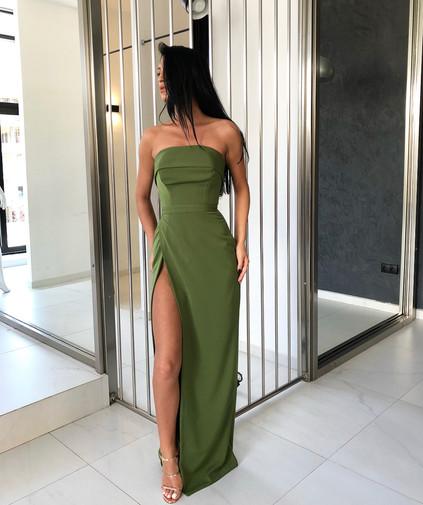 Farrah Khaki Gown