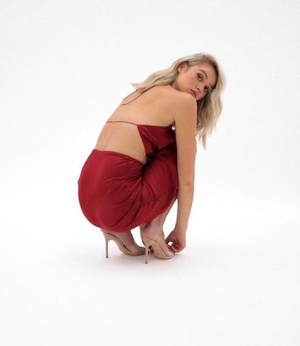 Natalie Rolt   Virgo Rust Gown