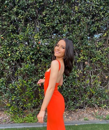 Crockett Blood Orange Gown