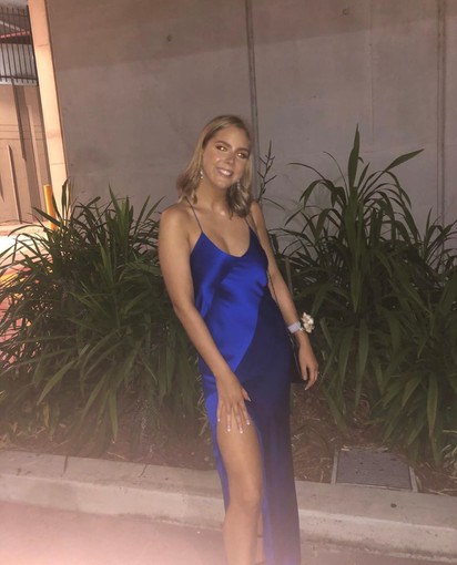 Bias Slip Cobalt Blue Gown