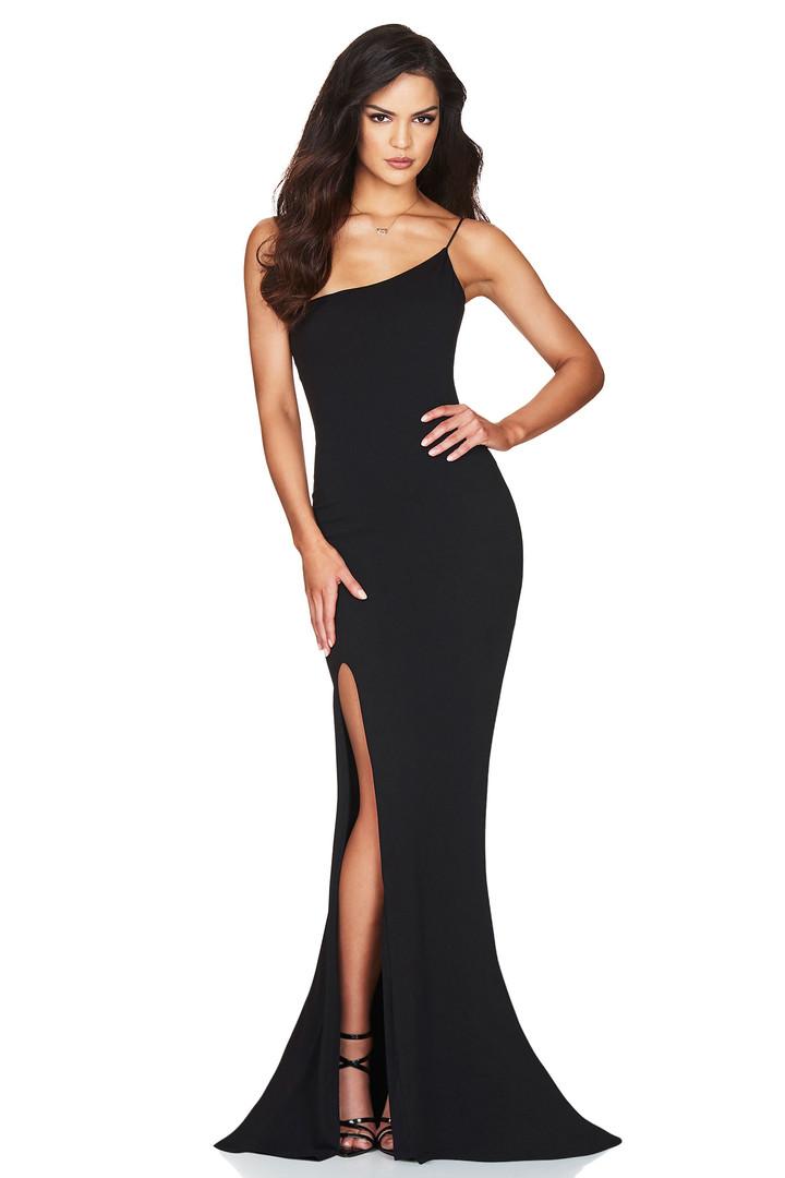 Jasmine One Shoulder Black Gown