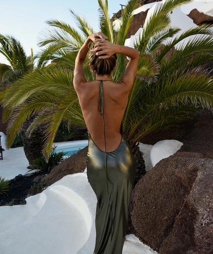 Venus Gold Lamé Gown