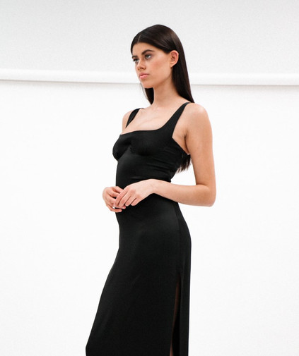 Crystal Black Gown