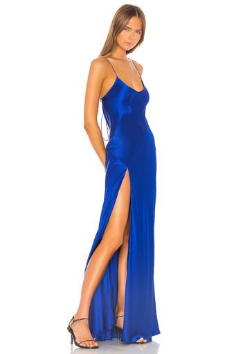 Bias Slip Cobalt Gown