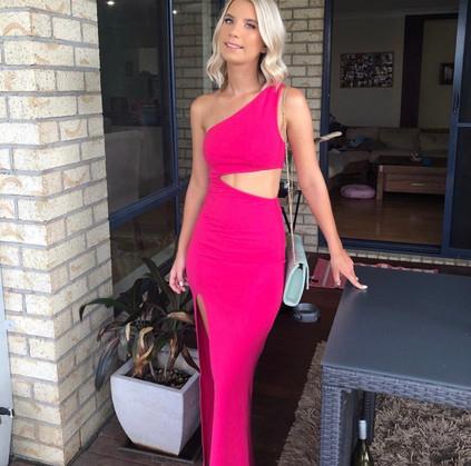 NBD | Naven Marissa Bright Pink Gown