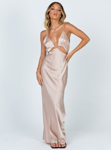 Exclusive   Larsa Champagne Gown