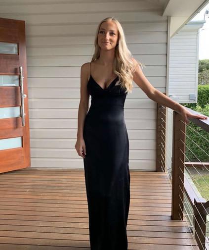Greta Black Gown