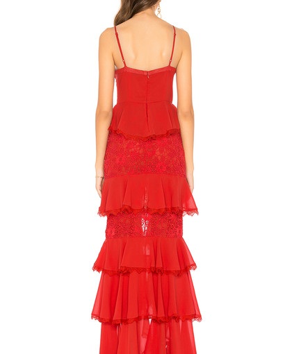 Zelda Fritz Red Gown