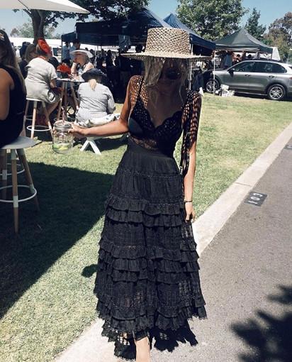Zimmermann | Corsair Black Gown Set