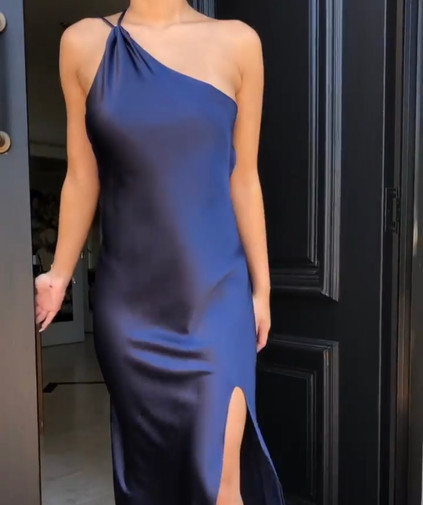 Eve Navy Gown