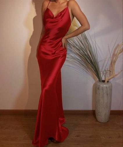 Blair Crimson Gown