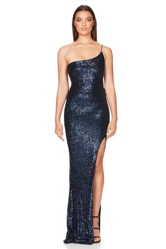 Demi One Shoulder navy Gown