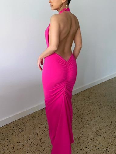 Melani the Label | Melody Hot Pink Gown