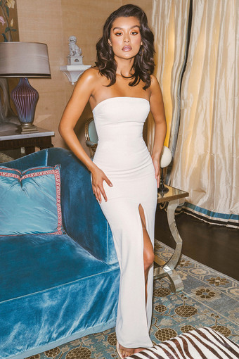 House of CB   Holly Ecru Gown