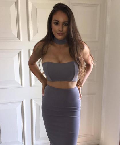Gigi Gunmetal Gown