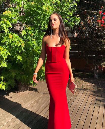 Zachary the Label   Elvira Cherry Red Gown