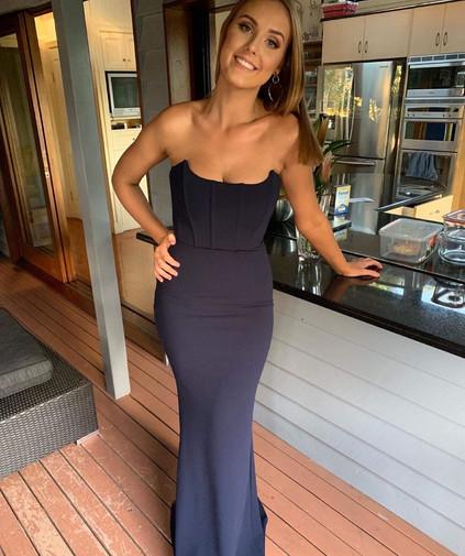 Elvira Navy Gown