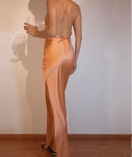 Exclusive | Nora Salmon Buff Gown