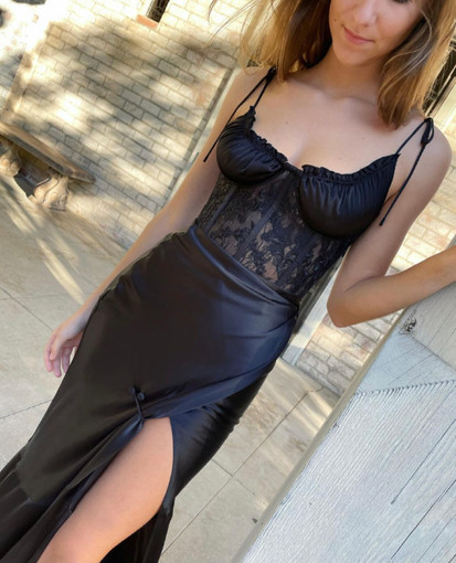V.Chapman   Calla Lily Black Gown