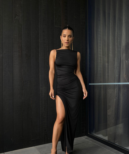 Rae Black Gown