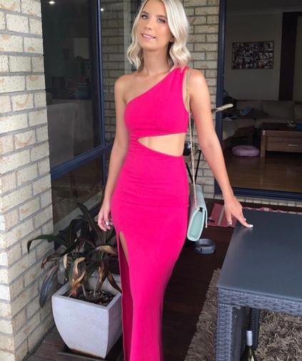 Naven Marissa Bright Pink Gown