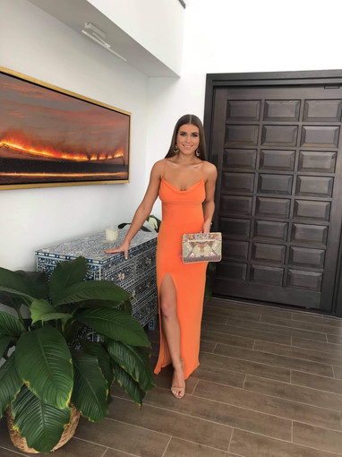Exclusive | Paola Tangerine Gown