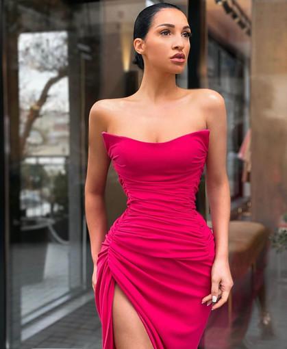 Lia Stublla   Saint Amaranth Gown