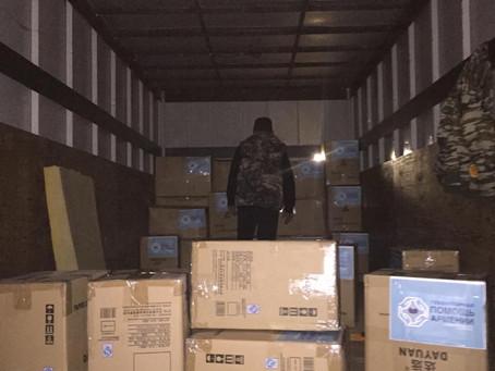 Десятая машина гуманитарной помощи Арцаху из Петербурга