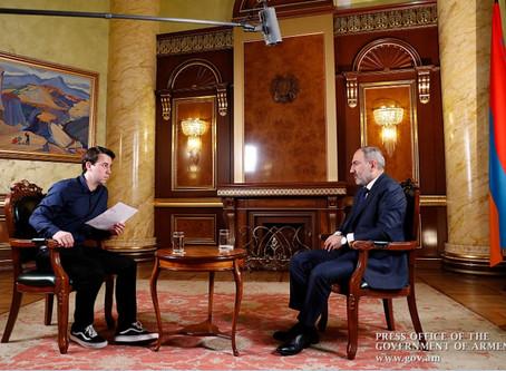 """Пашинян: """"Нагорный Карабах не  будет никогда в составе Азербайджана. Это уже исключено. 100%"""""""