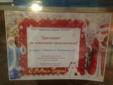 Новогоднее представление в г. Пушкин