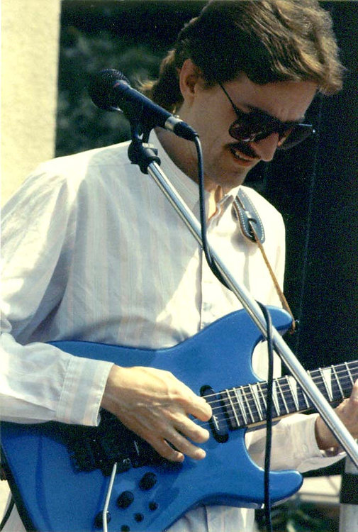 Summer of 1990 -Playing with Kevin Mahogany -photo by Allene Mathews