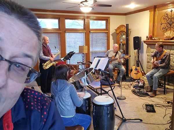 Mark Valentine, Steve Smith, Candice Hill, Andy DeWitt & Jay EuDaly - Dec 6, 2019 Rehearsal