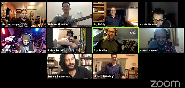 Meeting of Guitar Collective - South Asian guitarists...and me!