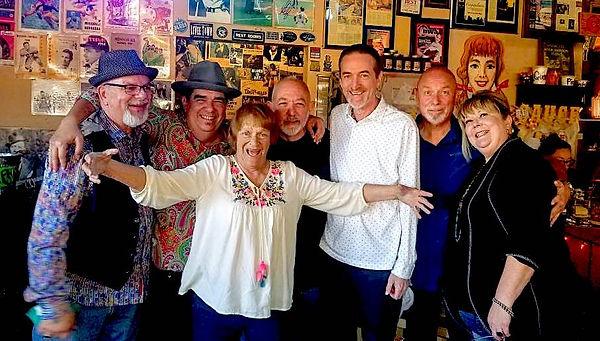 Chris Immele, Larry Baeder, Diane Ray, Brian Scott, Jay EuDaly, Steve Barrett and Jackie Barrett at BBs - October 13, 2019