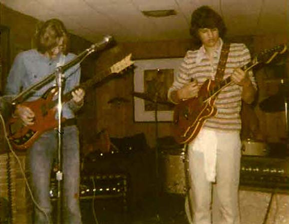 Jay with Brad Waldo in 1971 Playing with Open Road Conspiracy